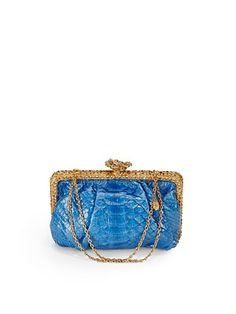 Clara Kasavina Rosemarie Swarovski Crystal Python Clutch...pair with a black or gold dress for d night...glam!