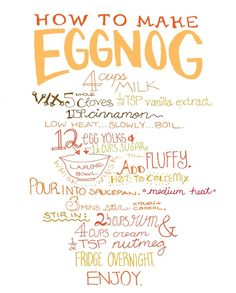 Eggnog recipe - Good way to use up yolks if you eat egg whites only !