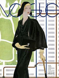 Vintage Vogue magazine covers - mylusciouslife.com - April 26 1930 - vintage cover of Vogue