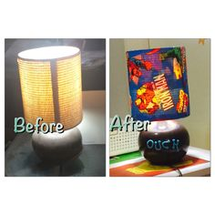 Diy superhero lampshade glue printed pictures to each - Cool things to buy for your room ...