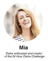 Mia here again, Welcome to Detox DIY and congrats on taking the first step to reclaiming your health! The 24 Hour Detox Challenge will leave you feeling full of energy, mentally sharp and will help reset your body and state of mind so it will be easier to eat better, be more active and live a...