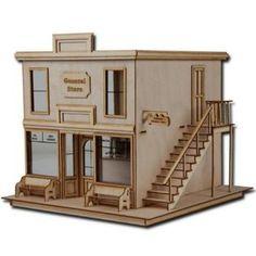 Greenleaf Doll Houses 1/2 Scale Dollhouse Kit Laser Cut Taft General Store
