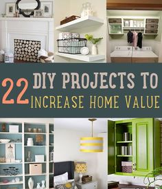 22 DIY Projects to Increase Home Value | http://diyready.com/22-diy-projects-that-will-increase-the-value-of-your-home/