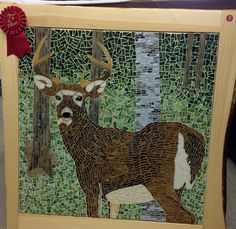 "2nd Place Winner - Mosaics category in the ""Just For Fun"" contest April 2013. Hosted by Stained Glass Express of Waterville Maine."