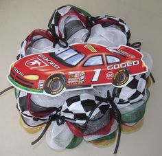 NASCAR deco mesh wreath made for the Daytona 500