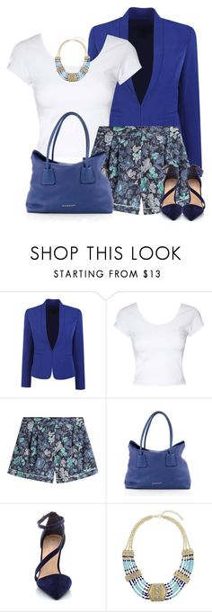 """""""Burberry Shorts"""" by daiscat ❤ liked on Polyvore featuring Jane Norman, Burberry and Miss Selfridge"""