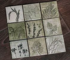 I Cast Plants, Flowers & Objects In Plaster To Create Sculptural Images Slab Pottery, Ceramic Pottery, Inspiration Artistique, Printed Magnets, Plaster Art, Concrete Crafts, Ceramic Wall Art, Clay Tiles, Handmade Tiles