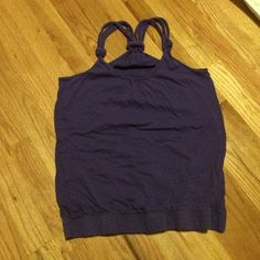 Purple tank with braided straps Purple loose tank, fitted on bottom Tops Tank Tops