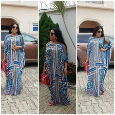 here is something about our boubou's that makes you feel so alive😍💕 it's elegant in all its forms. Made with a beautiful vintage fabric Ankara Maxi Dress, African Maxi Dresses, Latest African Fashion Dresses, African Dresses For Women, African Print Fashion, African Attire, African Wear, Africa Dress, African Traditional Dresses