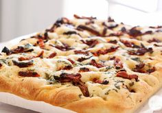 A Year of Yeast: Sun-Dried Tomato Focaccia | Inspired by Charm