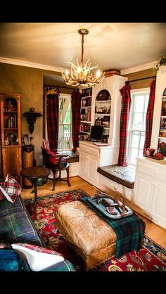Love the plaids, love the rug…where could I use these ideas?