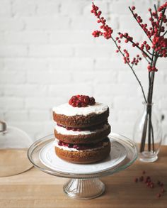 Gingerbread Cake with Cranberry Cream -a Better Happier St. Sebastian