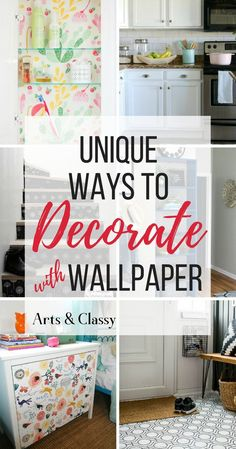 Decorating with wallpaper is so popular in home decor. Many peel-and-stick options are temporary, making this the perfect way for renters and homeowners alike to spruce up their space | Rental-friendly decorating with wallpaper.