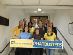 Wear your #ActiveU T-shirt, post a pic on our Facebook page and you could win a prize, just like Pamela Armstrong (shown here with her Active U team College of Pharmacy Phatbusters). Congrats Pamela – enjoy your MHealthy Class punch card! Learn more: http://www.hr.umich.edu/mhealthy/programs/activity/activeu/prize-patrol.html