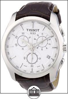 Tissot T0356171603100 - Reloj analógico de caballero de cuarzo con correa de piel marrón de  ✿ Relojes para hombre - (Gama media/alta) ✿