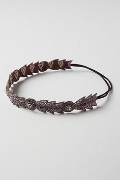 **** (it says this is grey but it's more blue-ish ...I like the blue one) Beaded Plume Headband #anthropologie $32