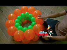Como hacer guirnalda alternada con globos 2 medidas # 37 - YouTube