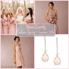Rose Quartz is one of the colors for 2016.  I love how sweet and feminine this color is!  Check out all 10 colors for spring and summer: http://www.onsitereceptions.com/#!Bridal-Fashion-Month-10-Color-Trends-for-2016-Bridesmaid-Dresses/c15o3/562129270cf2c6c643784fe5