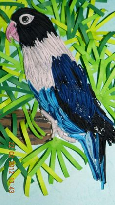 Parrot - Quilled Picture Landscape