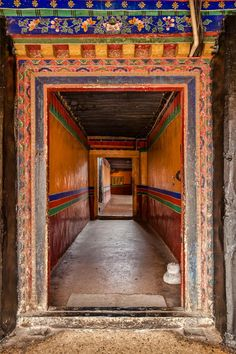 Narrow halls of the Potala Palace, Tibet.