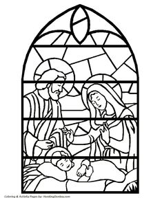 bible coloring pages stained glass nativity coloring pages
