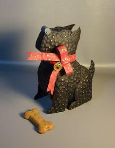 Black Tin Scottie Dog 12 High Hand Crafted by CoolCatsAndHotDogs