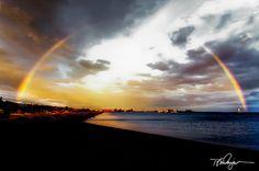 Rainbow over Grand Marais by Tom Dingman, via 500px