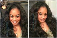 "Beautiful Customer Wearing One of our Custom Units  Hair : Brazilian Body wave inches 2x20"" -2x22"" and 18"" Silk Closure http://www.gigibeautifullocs.com/CustomhandMadewigs  #custommadewig #customunits #wig #wigs #virginhair #Brazilianbodywave #bodywavehair #hair #virginhairwigs #wigunit #handmadewig"