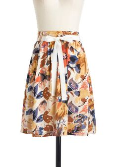 ModCloth With Flying Watercolors Skirt