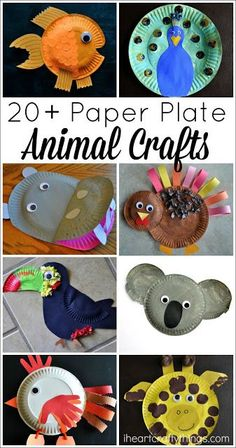 20+ Paper Plate Animal Crafts for Kids | I Heart Crafty Things We have made quite the variety of paper plate animal crafts over the years and I thought it would be fun to combine them all together in one post so you can see just how endless the possibilities are with paper plates. Here are more than 20 Paper Plate Animal Crafts for Kids that are sure to put a big smile on a kid's face.