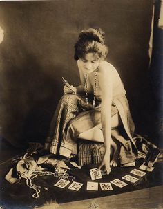 On duty fortune teller and palm reader
