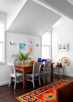 Put Your Kitchen Table Up Against A Wall To Save Some Space