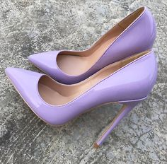 Loney New Patent Leather Sexy Pointed Toe Women Pumps Comfortable Slip On Women Thin HIgh Heels Spring Summer Sandals Shoes Lila High Heels, High Heels Stilettos, Classy High Heels, High Heels Prom, Pointed Heels, Platform High Heels, Stiletto Heels, Lilac Heels, Purple High Heels