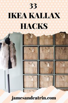 The Ikea Kallax shelving unit is so useful, but you can make it even more functional, beautiful and stylish with Ikea Kallax hacks. #ikeakallaxhacks #ikeahack #kallaxhack Kallax 5x5, Ikea Kallax Shelving, Ikea Kallax Hack, Ikea Furniture Hacks, Cheap Furniture, Ikea Hacks, Best Ikea, Upholstery Foam
