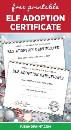 Elf Letters, Santa Letter, Dollar Tree Elves, Christmas Crafts To Sell Make Money, Adoption Certificate, Certificate Templates, All Things Christmas, Elf On The Shelf, Note Cards