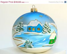 ORNAMENTS ON SALE hand pained Christmas ornaments by aniamelisa
