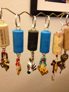 crafts with corks from wine bottles | Wine cork key chains | Cork/Wine Bottle Crafts