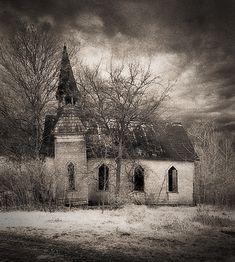 Hawkeye Methodist Church, Des Moines County, Iowa. Taken by James Wheeler.