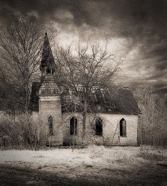 Hawkeye Methodist Church, Des Moines County, Iowa. Taken by James Wheeler.
