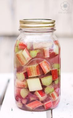 Learn how to make your own rhubarb liqueur that makes a great summer cocktail base.
