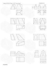 losmuertosdeldiedrico: PERSPECTIVA ISOMÉTRICA-croquis Isometric Drawing Exercises, Isometric Art, Geometric Drawing, Geometric Shapes, Autocad, Math Projects, Projects To Try, Orthographic Drawing, Geometric Construction