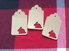 Die Cut Bunny Tag by NatureCuts on Etsy