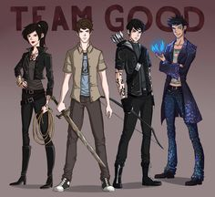 Izzy, Simon, Alec, and Magnus.