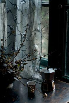 Birds,jasmin and coffee by Katia Chausheva Coffee Break, Coffee Time, Morning Coffee, Coffee Cups, Coffee Maker, Tea Time, Coffee Art, Through The Window, Windows