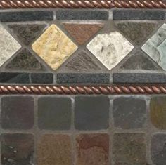 Mixed Slate And Copper Metal Backsplash Tile | MSI