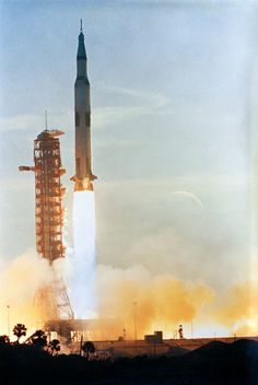 Apollo 8 Launches on the First Manned Saturn V 47 Years Ago Today (21 Dec. 1968) — The Apollo 8 (Spacecraft 103/Saturn 503) space vehicle is launched from Pad A, Launch Complex 39, Kennedy Space Center (KSC), at 7:51 a.m. (EST), Dec. 21, 1968.