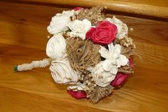 Wedding Sola wood Bouquet Bouquet Bridal by thebloomingcornercom,
