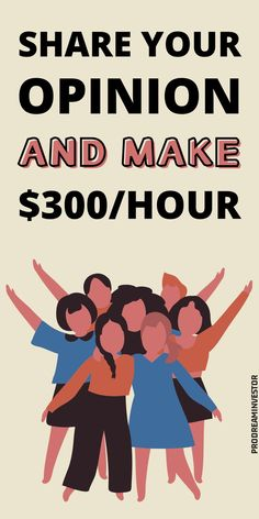 Take part in paid focus groups and earn up to $300 per hour by simply sharing your opinion. Discover the best paid focus groups online and start earning now. #makemoney #makemoneyonline