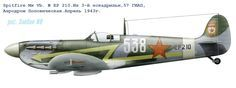 Supermarine Spitfire Mark Vb EP 210 of the 3rd Squadron, 57th Guards Fighter Aviation Regiment of the Soviet Air Force