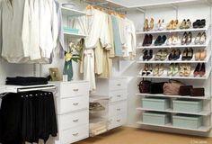 Fabulous (and neat!) walk-in closet
